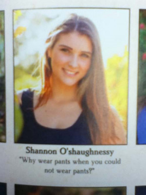 funny yearbook quotes pic pants
