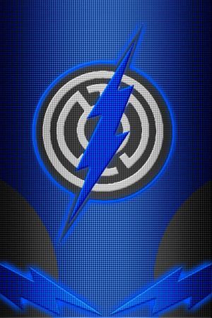 Blue Lantern Flash Symbol...