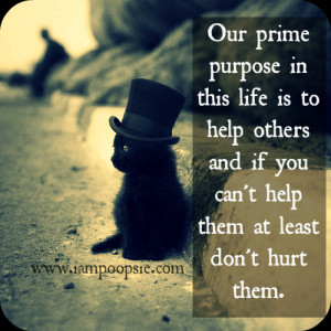 Not everyone believes this but the real purpose that we are born into ...