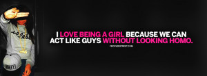 Love Being A Girl Quote Picture