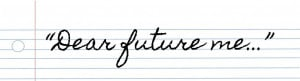 ... future. Bloggers under 18 were asked specifically to write a letter to
