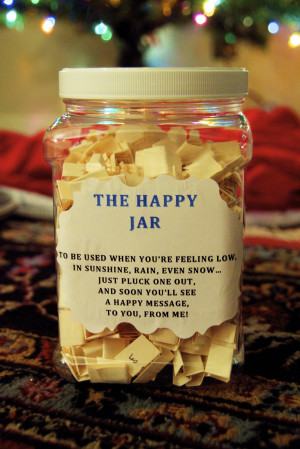 The Happy Jar - Last week, I gave you a sneak peak into this post ...