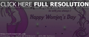 Women's Day is celebrated every year on 8th March. The day ...