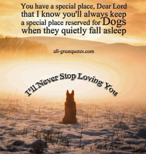 ... they quietly fall asleep - In Loving Memory - Pet Loss - Dog Poems