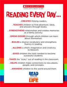& Read isn't just about fun it's also about the importance learning ...