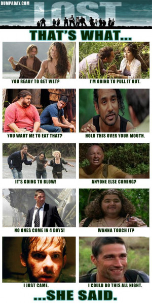 thats what she said, lost tv show, funny pictures