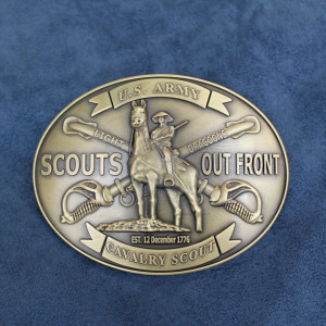 Custom Cavalry Light Dragoons Belt Buckle