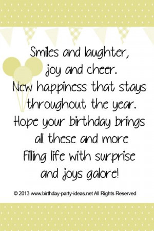 ... birthday brings all these and more Filling life with surprise and joys
