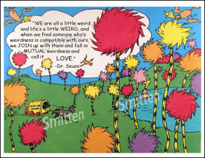 Dr. Seuss Weird Love Quote Art Print Card