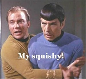 captain kirk hugs spock, funny pictures