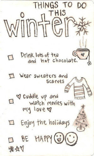 Things to do this winter