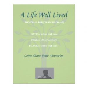 celebration of life invitation template