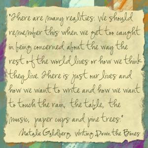 Natalie Goldberg reminder: