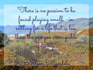 There is no passion to be found playing small--in settling for a life ...