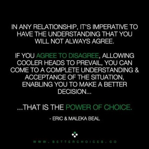 The power of choice.