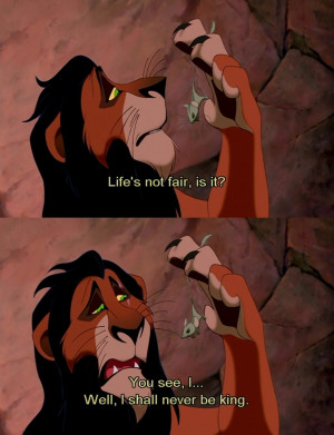First Lines in the movie spoken by Scar