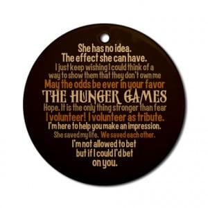 Cinna Gifts > Cinna Seasonal > Hunger Games Quotes Ornament (Round)