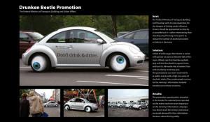 Funny German Anti Drunk Driving Vw Beetle Eyes Campaign