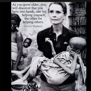 Audrey Hepburn... Beautiful heart and soul! You will always be an ...