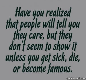 Care Quotes, Sayings about caring (38 quotes) - CoolNSmart