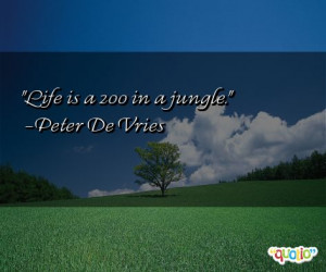 Life is a zoo in a jungle .
