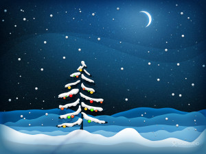Download Illustrations wallpaper, 'christmas tree night wallpaper'.