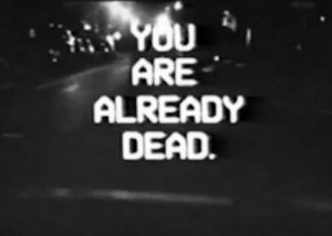 scary death trippy quote Black and White text creepy words horror b&w ...