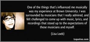 Lisa Loeb Quote