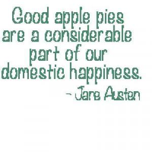 Jane Austen Apple Pie Quote Cross-Stitch Pattern