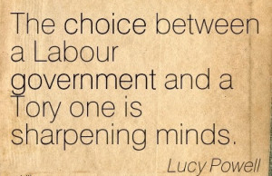The choice between a Labour government and a Tory one is sharpening ...