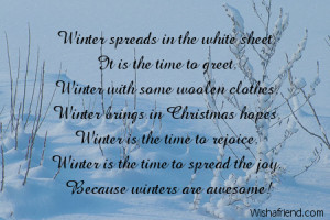 winter weather winter poems