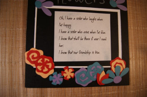 Sorority Sister Quote for scrapbook