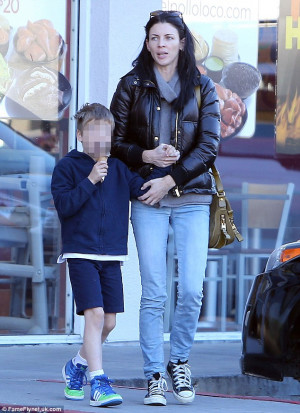 That's how she stays so trim: Liberty Ross takes her son Tennyson for ...
