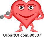 Royalty Free RF Clipart Illustration Of A Healthy Heart Face ...