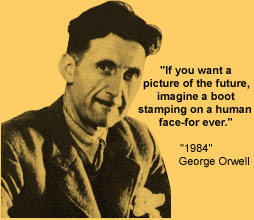 the demonstration of socialism in george orwells 1984 1984 is a presentation of orwell's definition of dystopia and was meant as a warning to those of the modern era what specifically is orwell warning us against, and how does he achieve this posted on december 16, 2014 by ingsocforscholars.