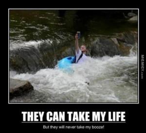 rafting with beer funny beer rafting