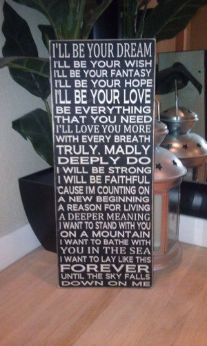 24x11 Savage Garden Truly Madly Deeply Love Song Wood Sign. Great Gift ...
