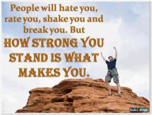 Motivational, quotes, sayings, wise, hate you, strong