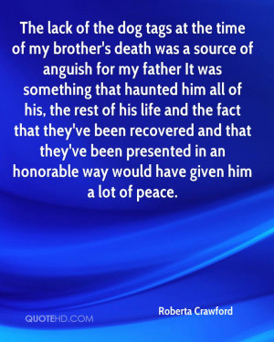 the-lack-of-the-dog-tags-at-the-time-of-my-brothers-death-was-a-source ...