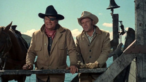 John Wayne (Marshall Reuben J. 'Rooster' Cogburn) and Glen Campbell ...
