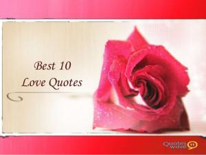 Best 10 Love quotes