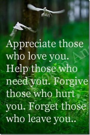 Appreciate Those Who Love You!!