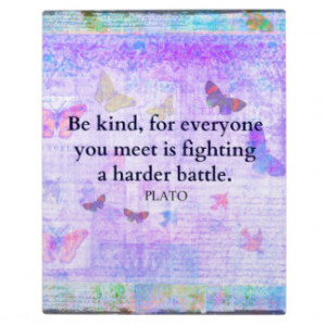 Inspirational Plato Compassion quote Plaques