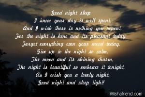 Go Back > Gallery For > Goodnight Sleep Tight Poem