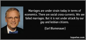 ... failed marriages. But it is not under attack by our gay and lesbian