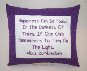 Purple Picture With Quotes And Sayings » Cross Stitch Pillow Purple ...