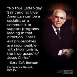 Pres. Benson...political quote