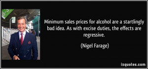 Minimum sales prices for alcohol are a startlingly bad idea. As with ...