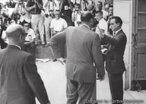 AlabamaGovernor George Wallace in 1967 blocks a deputy U.S. attorney's ...