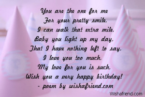 happy birthday for girlfriend poems